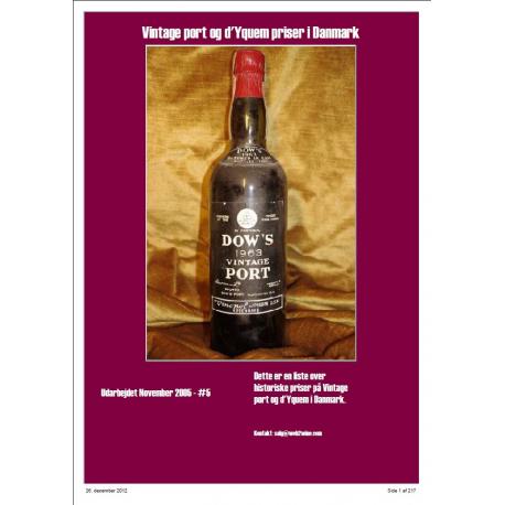 Priser på Vintage Port og d'Yquem i Danmark