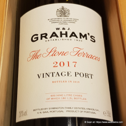 Graham's Vintage Port 2017 The Stone Terraces